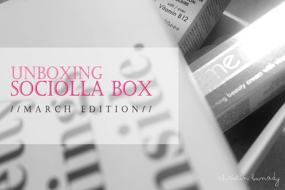 Unboxing Sociolla Box: March